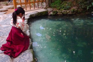 八重垣神社・鏡の池
