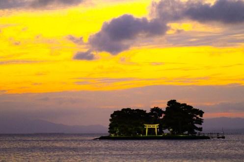 嫁ヶ島(宍道湖夕日スポット)