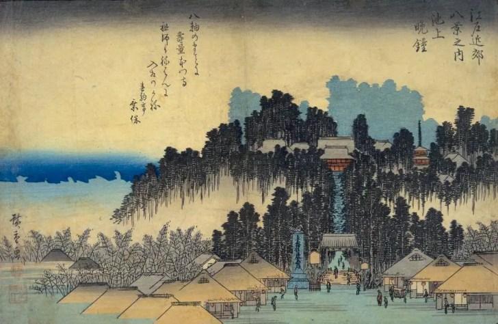 歌川広重『江戸近郊八景之内 池上晩鐘』