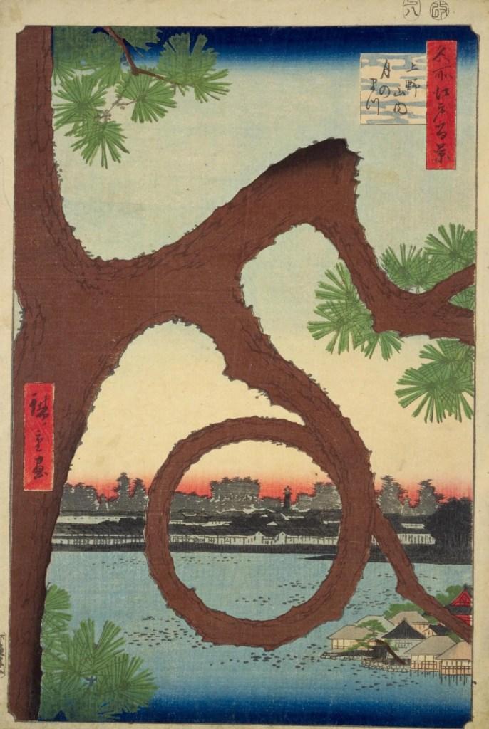 寛永寺・清水観音堂 月の松