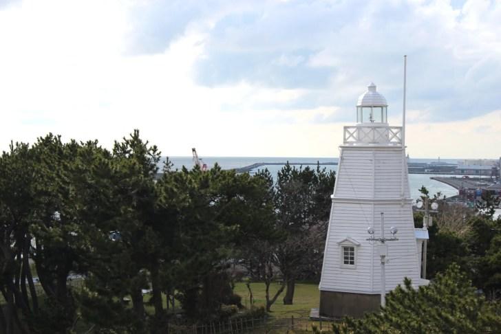 日和山公園木造六角灯台