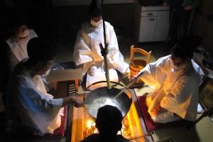 飽富神社『筒粥の神事』