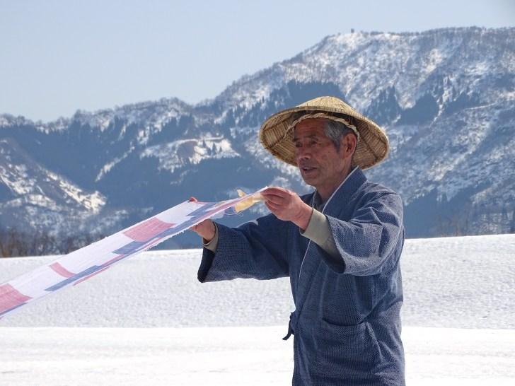 中田屋織物・雪晒し