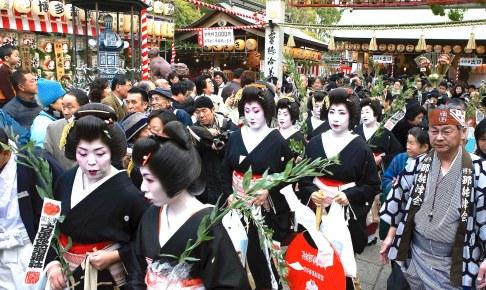 博多芸者かち詣り