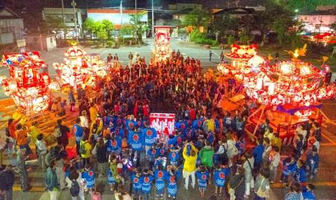 庄川観光祭(花火大会・庄川夜高行燈)