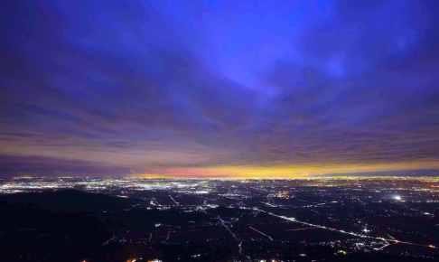 筑波山ロープウェイ『スターダストクルージング』(夜の空中散歩)