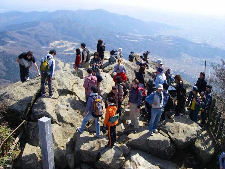 筑波山の山頂は第6位の早さ!