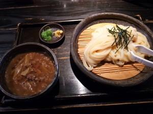 牛と土ゴボウのつけ麺