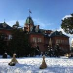雪の赤れんが庁舎