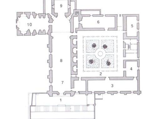 修道院の見取り図