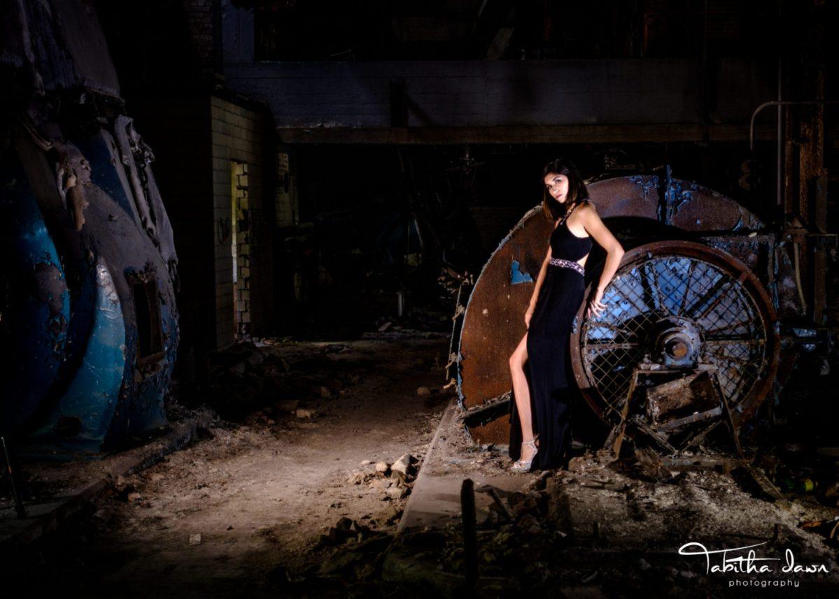 Photoshoot…  Models at the abandoned Wyman-Gordon Power Plant!