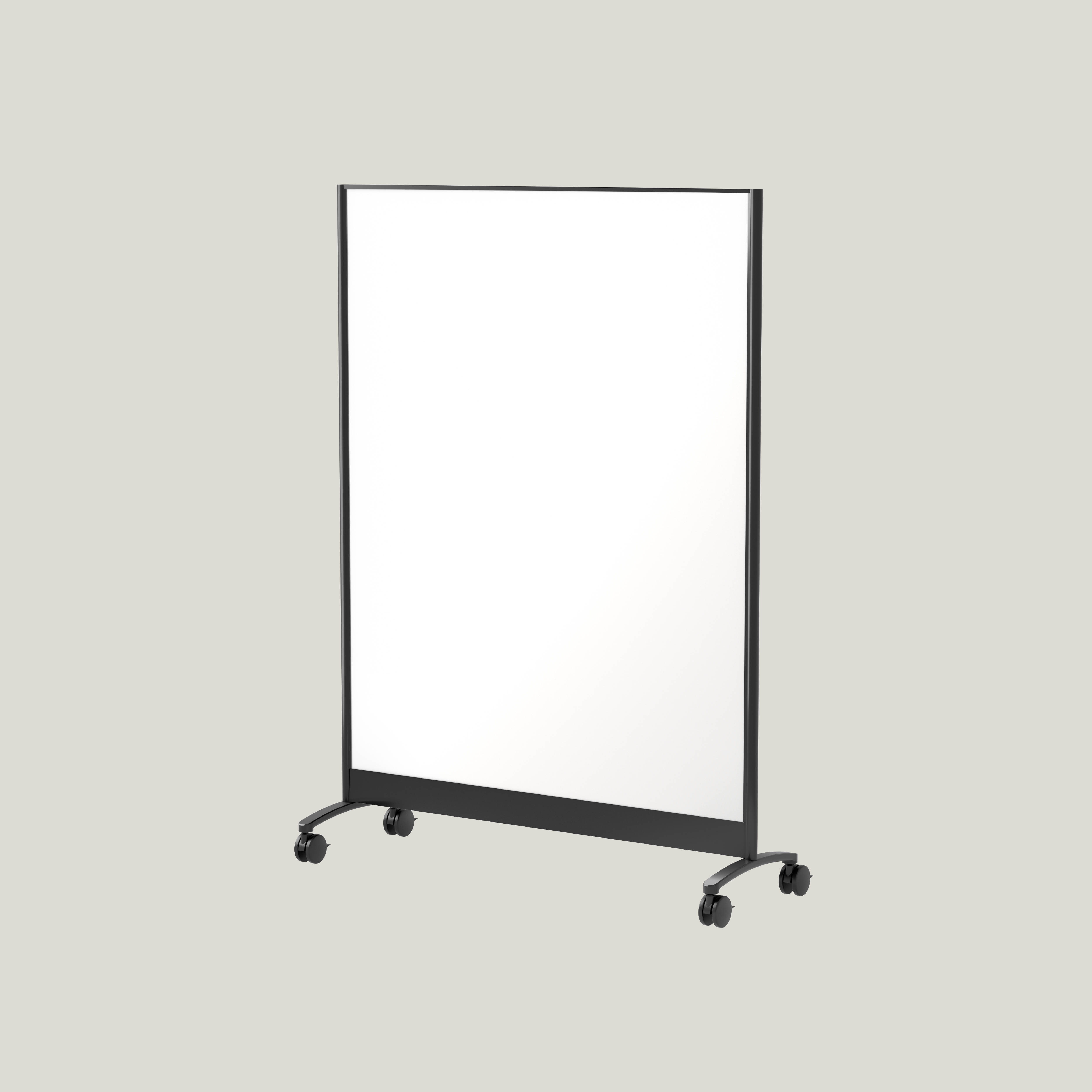 Double-sided dry erase board on wheels