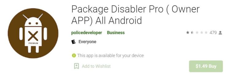 Package Disabler Pro Disable samsung pay