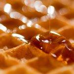 ワッフル 甘味 蜂蜜