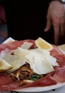 carpaccio de bresaola avec artichaud