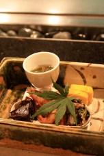 crevette au wasabi, potiron…