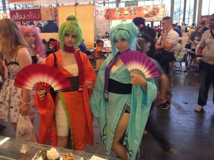 des cosplayers au Japan Expo 2014