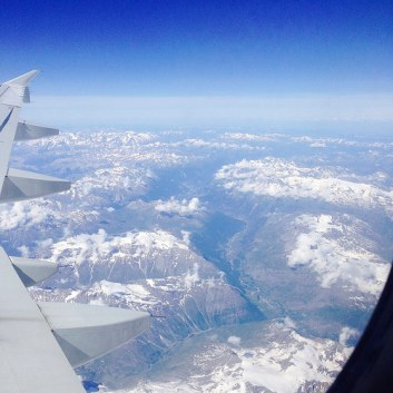 Vue des Alpes*アルプスのどこか