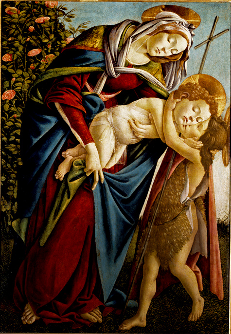 botticelli聖母子と洗礼者聖ヨハネ