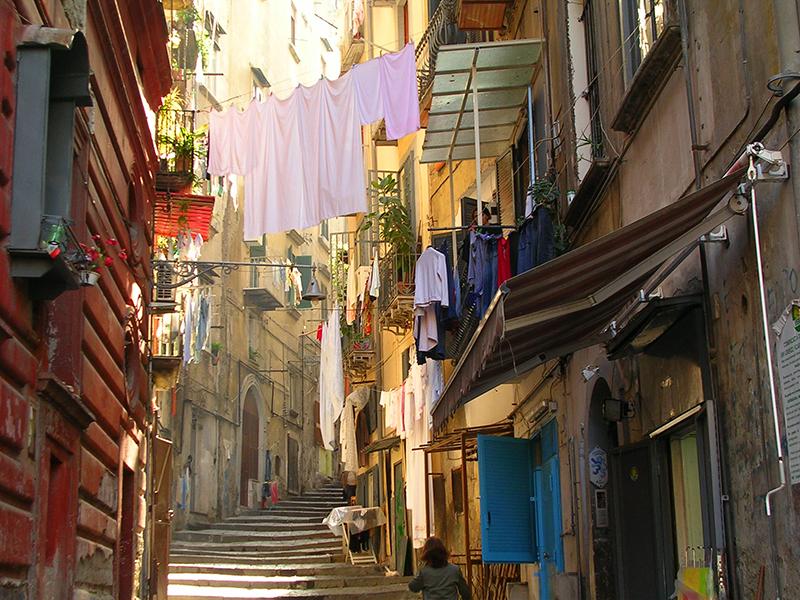 ナポリの街並み