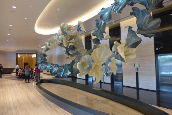 コンラッドホテル1Fエレベーターロビー