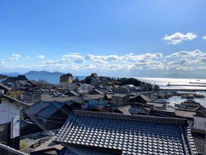 鞆城跡からの圓福寺方面の眺め