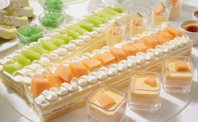 色とりどりのジューシーなメロンが並ぶ人気フェア『メロンスイーツフェア』 【サンシャインシティプリンスホテル】