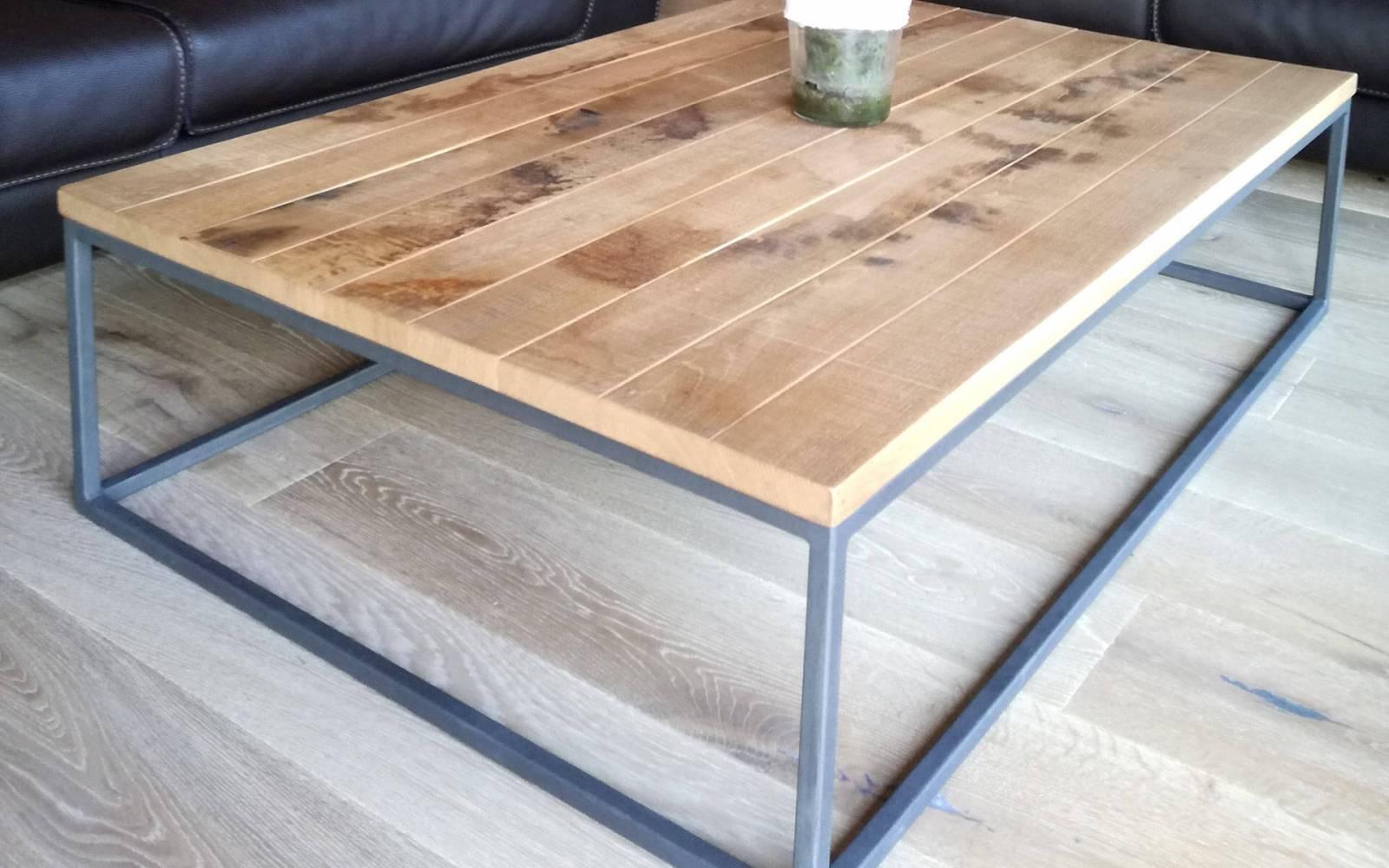 Table Basse Bois Brut Ronde