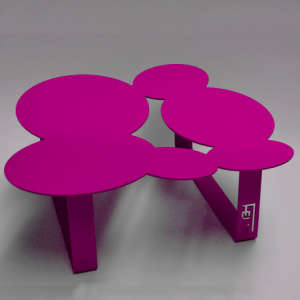 Table basse design cloudy rose