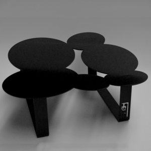 Table basse design cloudy noire