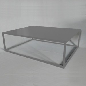 Table basse design rectangle grise