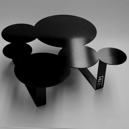 Design coffee table Inside black