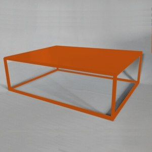 orange design coffee table