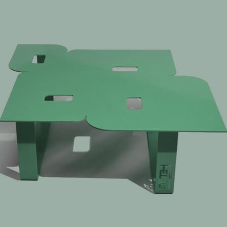 Modern coffee table so seventies olive