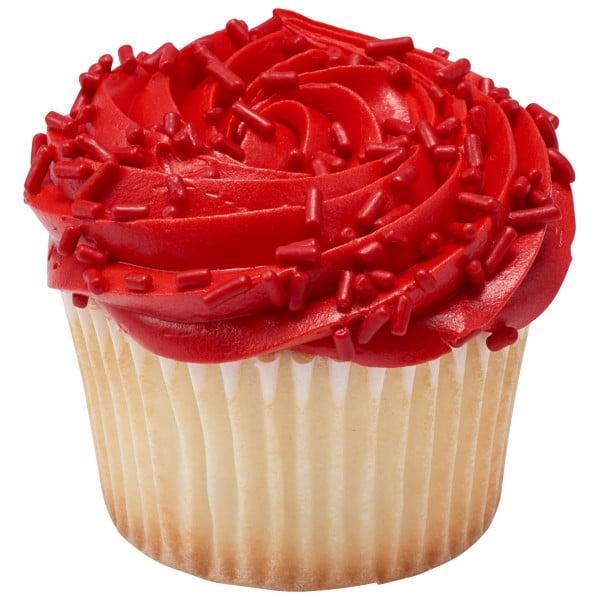 red cupcake sprinkles