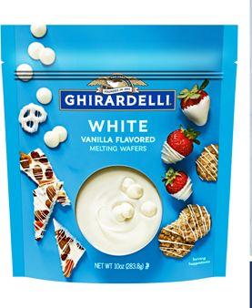 white melting wafers
