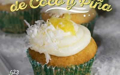 Receta: Cupcakes de Coco Y  Piña