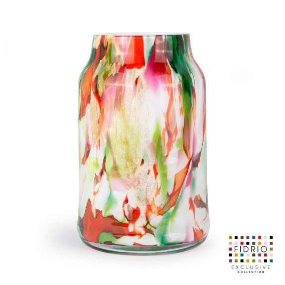 Vase mixed colours bloom large