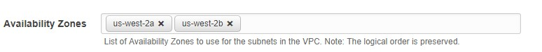 Specifying AZs