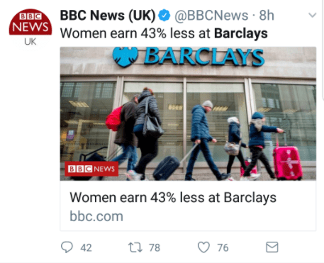 The Barclays Gender Pay Gap
