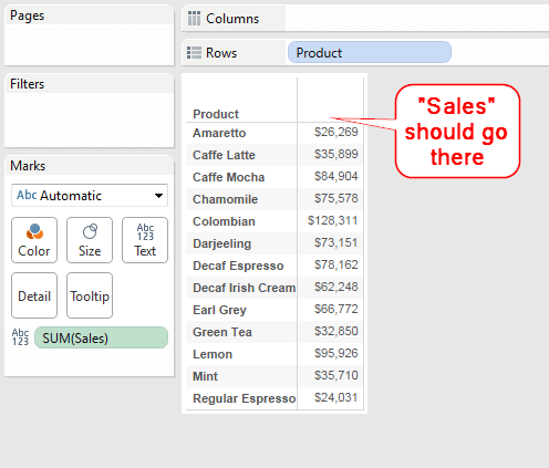 The One-Click Trick to Creating Headers for Single-Measure Tables