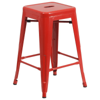 Red Counter Height Tolix Stool 24  TableBaseDepot
