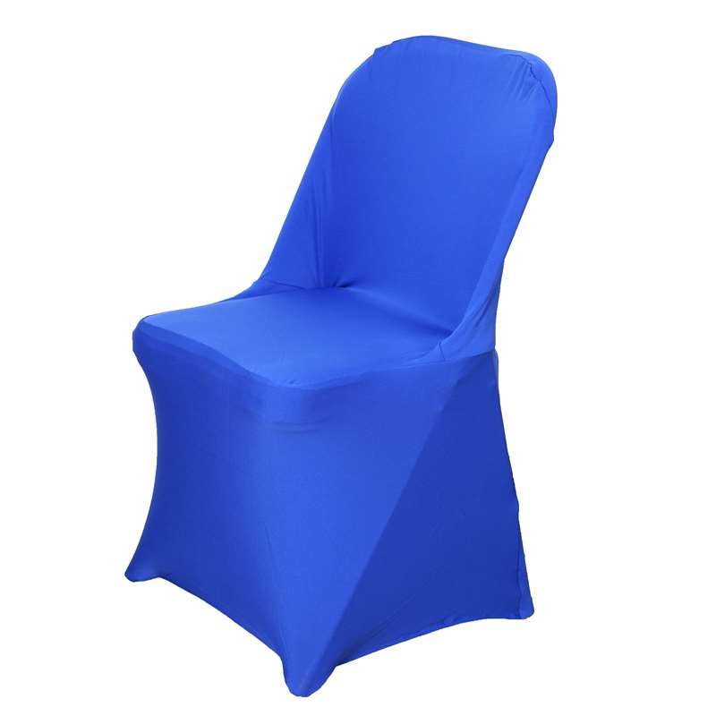 chair covers for parties to buy infant sit up wholesale royal blue spandex stretch folding cover wedding party event