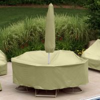 Patio Table Cover with Umbrella Hole | Table Covers Depot