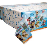 Paw Print Tablecloth Puppy Dog Print Plastic | Table ...