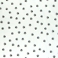 Paw Print Tablecloth White and Black | Table Covers Depot