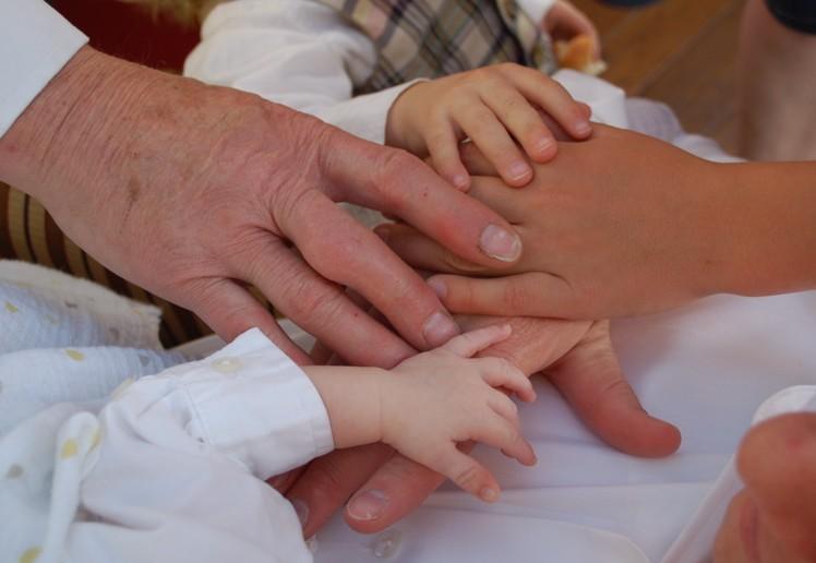 Men's Hands in Family