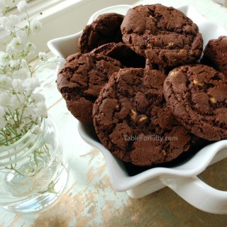 German Chocolate Macadamia Nut Cookies