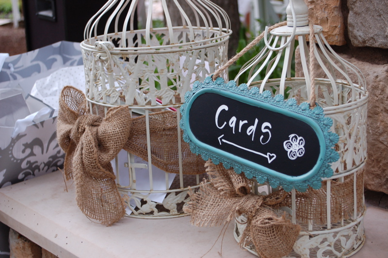 shabby chic gift card container