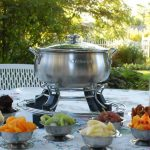 chocolate fondue garden party